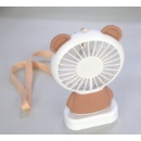 Portable Mini Rechargeable Handheld LED USB Fan (Hong Kong)