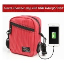 Travel Shoulder Bag with USB Charger Port (Hong Kong)
