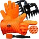Silicone BBQ Cooking Gloves Plus Meat Shredder Plus Silicone Brush (China)