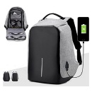 Laptop Backpack With USB Charging Port Travel Bag (Hong Kong)