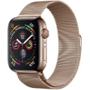 Apple Watch Series 4 44mm Stainless Steel with Gold Milanese Loop GPS+Cellular (China)