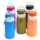 Collapsible Silicone Water Bottles with LED Light - BPA Free 550ml Foldable Bottle,Leak Proof Waterp (China)