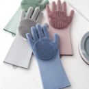 Magic Dishwashing Gloves, Silicone Cleaning Gloves with Wash Scrubber, Heat Resistant, for Household (China)