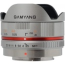 Samyang 7.5mm T3.8 Fisheye VDSLR Cine Lens Micro Four Thirds Mount Silver (Hong Kong)
