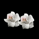 18K White and Rose Gold Diamond Pink Sapphire Earrings (Hong Kong)