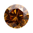 Moissanite Brown Round Cut Stone For Jewelry (Hong Kong)