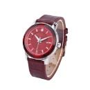 Business Genuine Leather Quartz Mens Watch (Hong Kong)