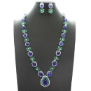 Tanzanite and Emerald Necklace Set (Thailand)