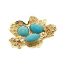 18K Gold Turquoise Pendent (Mainland China)