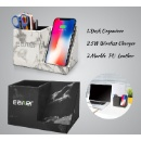 5W Wireless Charger with Desk Organizer and Phone Holder (Hong Kong)