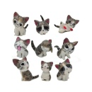 9 Pcs Japanese Cute Sweet Home Cats Dolls Animal Figures (Hong Kong)