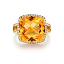 925 Sterling Silver Citrine Ring (Mainland China)