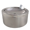Stainless Steel Classic Windproof Ashtray with Lid (Hong Kong)