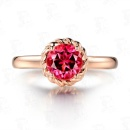 Gold Plated Ruby Jewelry Ring (Mainland China)