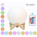 3D Printing Moon Lamp 16 Colors with Remote Control (Mainland China)