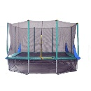 8FT x 12FT Rectangular Trampoline With Safety Net (Mainland China)