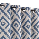 Geometric Polyester Blackout Grommet Curtain  (Mainland China)
