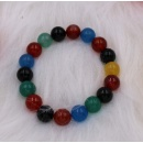 Stretched Bracelet with Multi-Color Stones (Hong Kong)