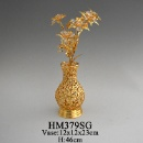 Decoration Artificial Metal Flower with Vase (Mainland China)
