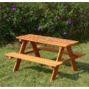 Outdoor Wooden Table with Bench  (Mainland China)