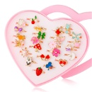 Princess Jewelry Finger Rings with Heart Shape Box (Hong Kong)