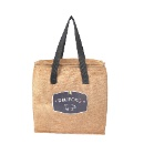 Eco friendly Double Handles Customized Thermal Insulated Freezer Lunch Jute Cooler Tote Bag (Mainland China)