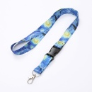 Beautifully Printed Lanyard with Safe Removable Buckle Spring Clip for women men (Mainland China)