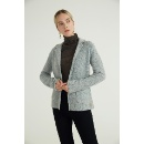 Gray-green gold and silver thread blend suit knitted cardigan (Mainland China)