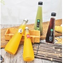 Hot Sale 250ml Transparent Conical Juice Glass Bottle  (Mainland China)
