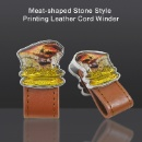Meat-shaped Stone Style Printing Leather Cord Winder (Taiwan)