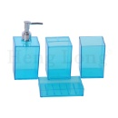 4 Pack Bathroom Accessories Set - Foaming Soap Dispenser & Toothbrush Holder & Tumbler & Soap Dish (Mainland China)