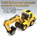 1:20 6-channel Remote Control Excavator (China)
