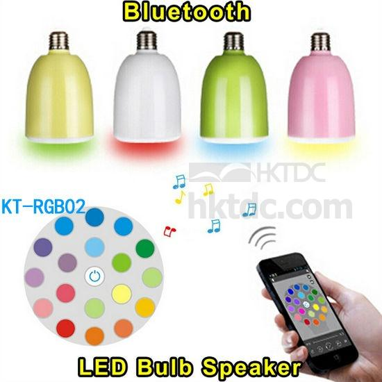 Bluetooth Speaker LED Lamp with APP (Hong Kong)