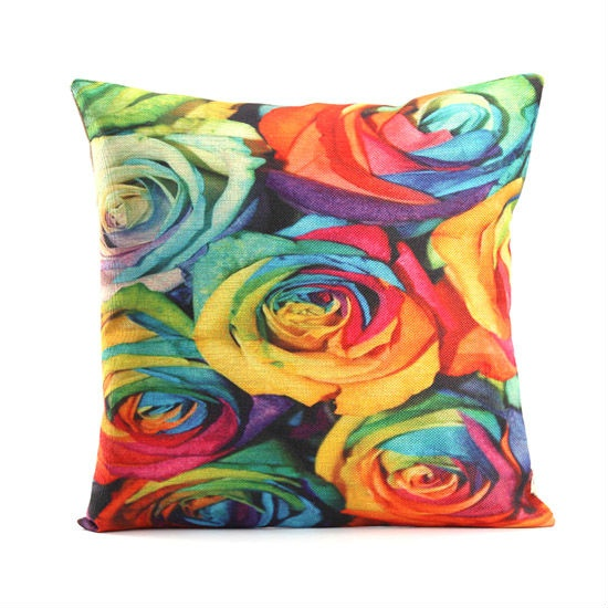 Sublimation Printed High Quality Flower Pillow Case For Girls (China)