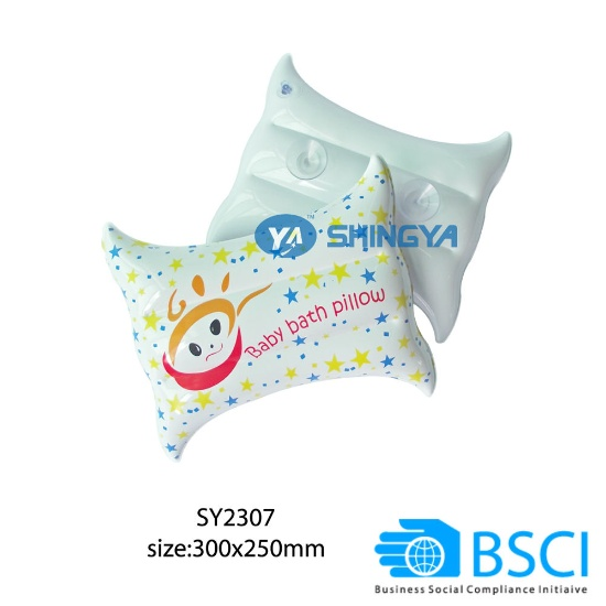 PVC Inflatable Baby Bath Pillow (China)