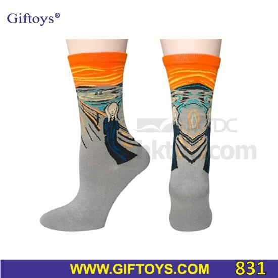 Painting Art Printed Cotton Socks (China)