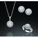 CZ Sterling Silver Pavé Set (Korea, Republic Of)