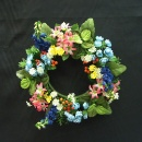 Mini Stock & Mixed Flower Wreath (Hong Kong)