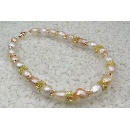 Faceted Freshwater Pearl Necklace (Japan)