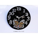 Butterfly Glass Wall Clock (Taiwan)
