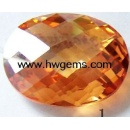 Double Checkerboard Cut Cubic Zirconia Stone (China)