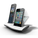 DECT with iPhone 5 charger, takes landline & mobile phones (Hong Kong)