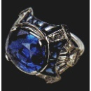 Natural Burma Sapphire and Diamond Ring (United Kingdom)