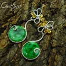 Jadeite and Sapphire Earrings (Hong Kong)