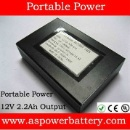 12V 2.2Ah Portable Power Bank Backup Rechargeable Battery Pack  (China)