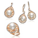 18K Rose Gold Freshwater Pearl with Diamond Set  (Hong Kong)