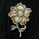 Gold Floral Brooch (Hong Kong)