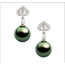 Tahitian Pearl Diamond Earring (Hong Kong)