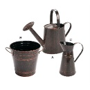 Retro Style Garden Watering Can Set (China)