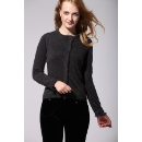 Lady Round Neck Long Sleeve Cardigan (Hong Kong)
